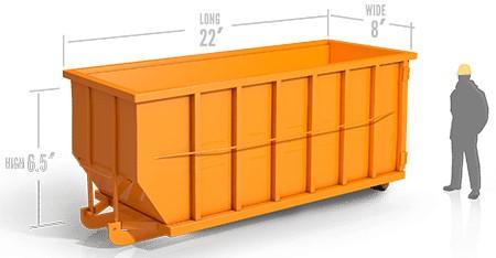 40yd roll off container in santa clarita, ca