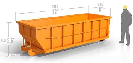 20yd roll off container in soledad, ca