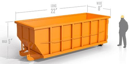 30yd roll off container in wyandotte, mi