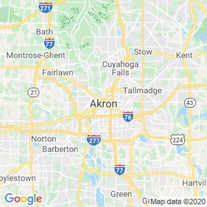 Akron Dumpster Rentals Service Area