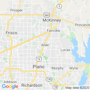 Allen Dumpster Rentals Service Area