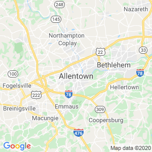 Allentown Dumpster Rentals Service Area