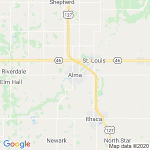 Alma Dumpster Rentals Service Area
