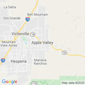 Apple Valley Dumpster Rentals Service Area