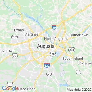 Augusta Dumpster Rentals Service Area