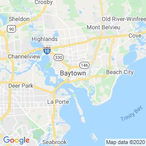 Baytown Dumpster Rentals Service Area
