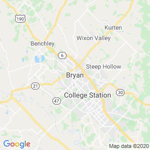 Bryan Dumpster Rentals Service Area