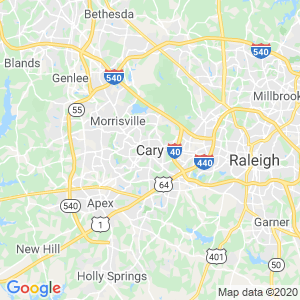 Cary Dumpster Rentals Service Area