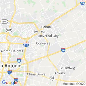 Converse Dumpster Rentals Service Area