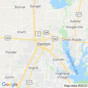 Denton Dumpster Rentals Service Area