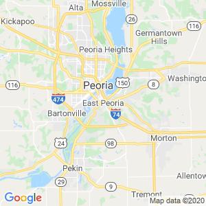 East Peoria Dumpster Rentals Service Area