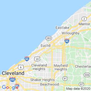 Euclid Dumpster Rentals Service Area
