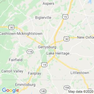 Gettysburg Dumpster Rentals Service Area