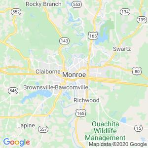 Monroe Dumpster Rentals Service Area