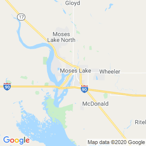 Moses Lake Dumpster Rentals Service Area
