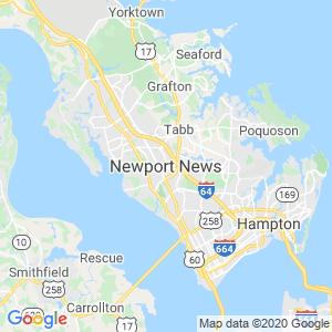 Newport News Dumpster Rentals Service Area