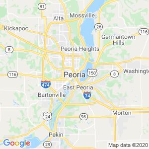 Peoria Dumpster Rentals Service Area