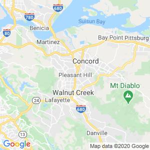 Pleasant Hill Dumpster Rentals Service Area