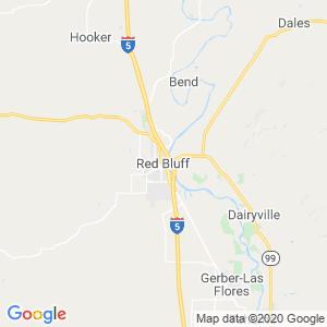 Red Bluff Dumpster Rentals Service Area