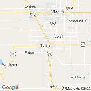 Tulare Dumpster Rentals Service Area