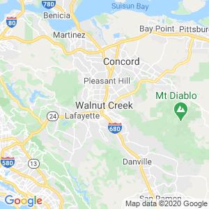 Walnut Creek Dumpster Rentals Service Area