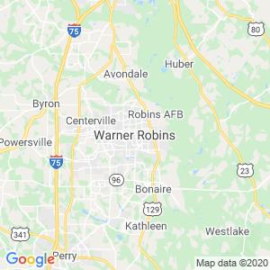 Warner Robins Dumpster Rentals Service Area